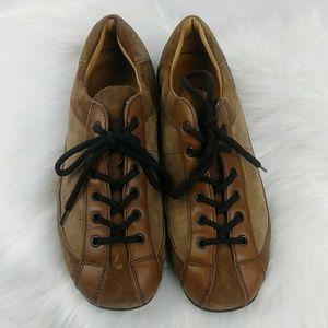 Prada Original Car Shoe Leather Lace-Up Oxfords